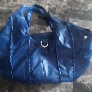 Nice blue leather shoulder purse